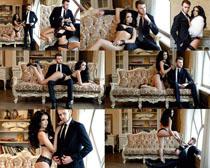 性感美女与模特男人摄影高清图片