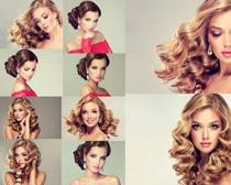 卷发女性女人写真摄影高清图片