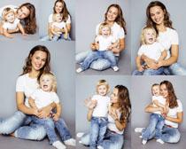 欧美妈咪与宝贝摄影高清图片
