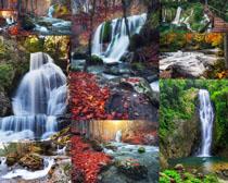 美丽瀑布风景摄影高清图片
