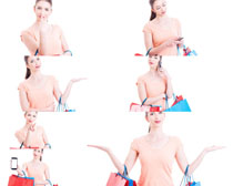 购物展示美女摄影高清图片