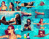 比基尼游泳女人摄影高清图片