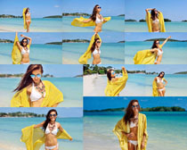 大海比基尼写真女人摄影高清图片