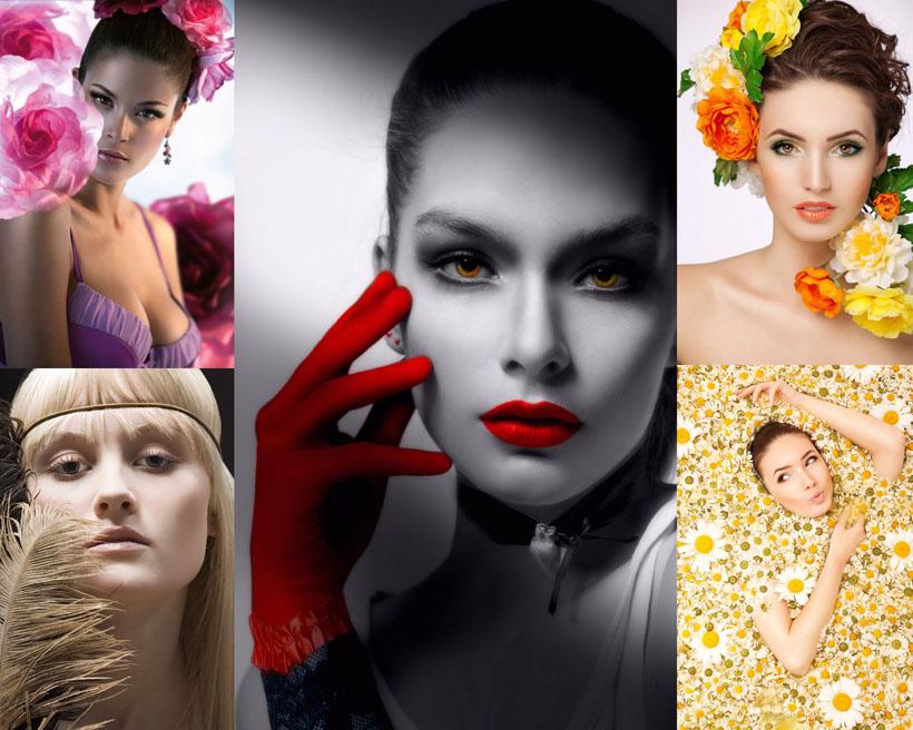 写真化妆美女摄影高清图片