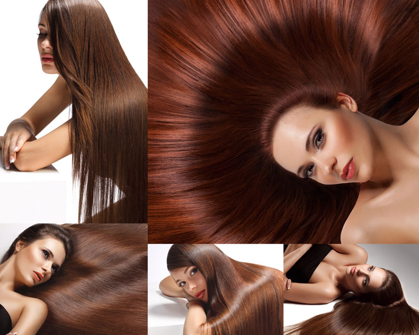 漂亮的发型女子摄影高清图片