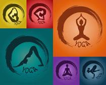 瑜伽图标设计摄影高清图片