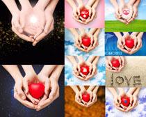 双手与爱心摄影高清图片