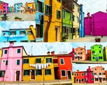 彩色房屋摄影高清图片