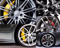 汽车个性轮毂摄影高清图片