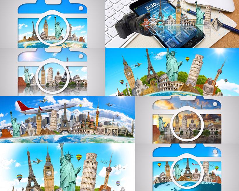 旅游景點拍照攝影高清圖片