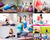 大肚子瑜伽女人摄影高清图片