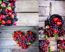 蓝莓草莓樱桃组合摄影高清图片