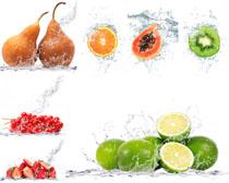 新鲜梨子猕猴桃摄影高清图片