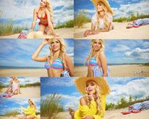 海边内衣性感美女摄影高清图片
