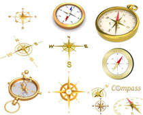 金色指南针摄影高清图片