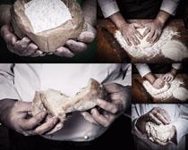 面包面粉男人摄影高清图片