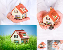 房屋模型摄影高清图片