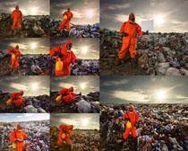 环保污染与人物摄影高清图片