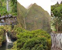 山水风光瀑布摄影高清图片