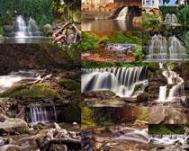 山水瀑布景观摄影高清图片