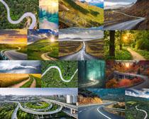 道路景观摄影高清图片
