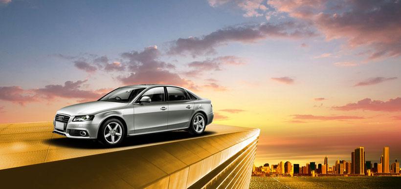 奧迪汽車廣告海報設計psd素材