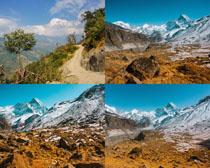 雪山景观摄影高清图片