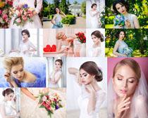 美丽的婚纱新娘写真摄影高清图片