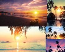 海边夕阳风光摄影高清图片