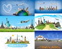 旅游景點塑像攝影高清圖片