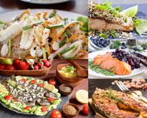 海鲜烤鱼摄影高清图片
