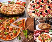 西红柿披萨摄影高清图片