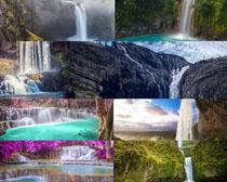 美丽的瀑布风景摄影高清图片