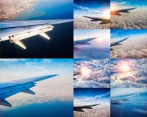 天空飞机翅膀摄影高清图片