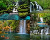 山水瀑布风景摄影高清图片