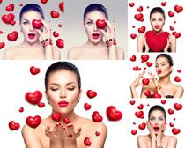 爱心与成熟美女摄影高清图片
