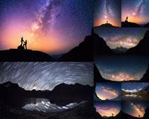 夜色的美丽天空摄影高清图片