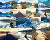 美丽湖泊景观摄影高清图片