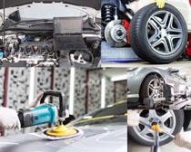 汽车保养护理摄影高清图片