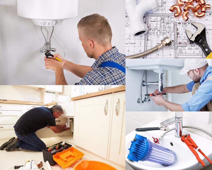 维修水管师父摄影高清图片