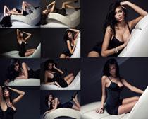 沙发上的性感美女摄影高清图片