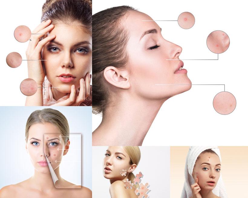 女子脸部护理摄影高清图片