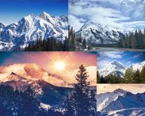 美丽雪山景观拍摄高清图片