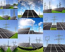 太阳能风车摄影高清图片