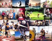 体育健身男女摄影高清图片