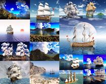 海盗船交通工具摄影高清图片