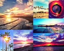 夕阳风景摄影高清图片