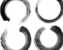 圆形水墨印记PSD素材