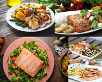 国外烤海鲜美食摄影高清图片