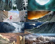 海啸灾害摄影高清图片